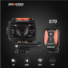SOOCOO S70 WiFi 2K Sport Action Camera with Watch Remote Control