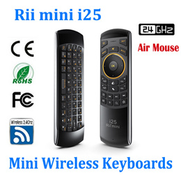 Rii i25 2.4G Fly Air Mouse Wireless Keyboard Combos Remote For Android TV Box Mini PC Gaming
