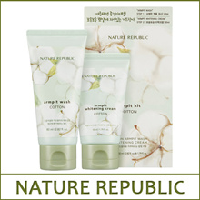 [NATUREREPUBLIC] Cotton Armpit Kit [Cotton Armpit Wash 80ml + Cotton Armpit Whitening Cream 50ml]