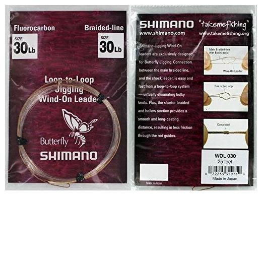 Shimano Butterfly Jig Wind-On Leaders 25/'