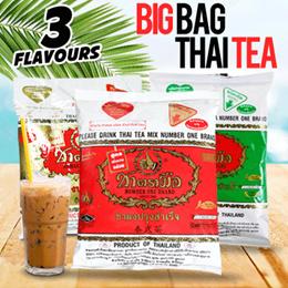 MAKE-YOUR-OWN-THAI-TEA ! ❤ WE SELL BIG BAG THAI TEA LEAVES ORIGINAL **400gr** / THAI GREEN TEA 200gr