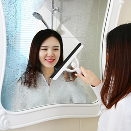 Portable/Small Multipurpose Mirror/Glass Cleaner/Wiper for Mirrors/Bathroom/Car/Window