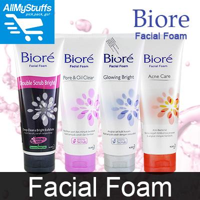 【Biore】Biore Facial Foam ● ACNE CARE / PORE N OIL CLEAR / GLOWING BRIGHT ●  100g●