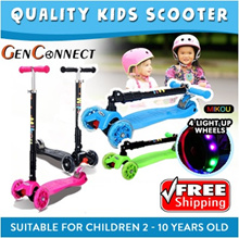 ⏱【QUALITY KIDS SCOOTER】/4 wheels Kids Scooter/Kick Scooter/Safety Gear Guard Set/Helmet