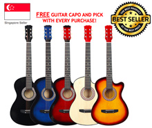 🎸11.11 POWER SELLER🎸SG BEST SELLING-1 DAY DELIVERY- High Quality Acoustic Guitar 38 Inch Beginner
