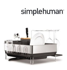 Simplehuman Dishes Clothes / steel frame dishrack / kitchen / bowl / drying / Kitchenware / tableware drying