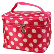 Amazing 1PC Fashion Women Round Dot Makeup Cosmetic Bag Big Travel Lingerie  Bra Underwear Bags( c0c0e20411