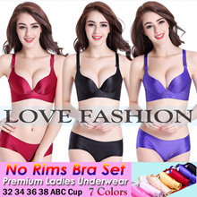 NEW READY STOCK WIRELESS NO RIMS BRA LINGERIE PANTIES/THICK CUP BRA/SEXY BRA /LADIES UNDERWEAR/NUBRA PUSH UP SHAPE/FAST DELIVERY