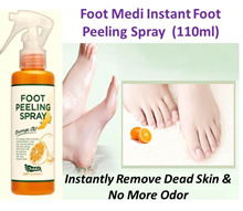 Foot Medi Instant Foot Peeling Spray. Instantly clears dead skin cells and regain baby feet feels.