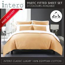 Intero 100% Egyptian Cotton 950TC Bedsheet Set