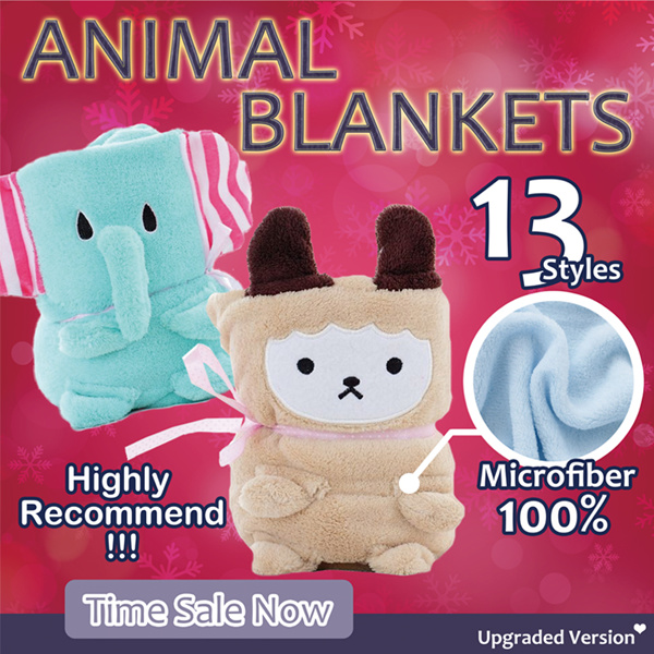 Cute Cartoon Animal Air-condition Blanket Collapsible Plush Blanket Gift Panda 100x80cm Deals for only Rp156.900 instead of Rp156.900
