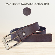 Men Brown Synthetic Leather Belt