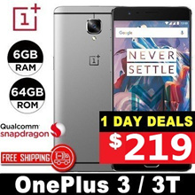 (MAKE $219)Oneplus 3 / 3T / 6GB RAM / 64GB ROM / Snapdragon 821 / Quad Core / 5.5 inch / Refurbished