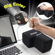 [Japan]Functional Big Enter Key. Hit the BIG KEY| Stress Relife Novelty Gadget | Enter Key|Nap Pillo