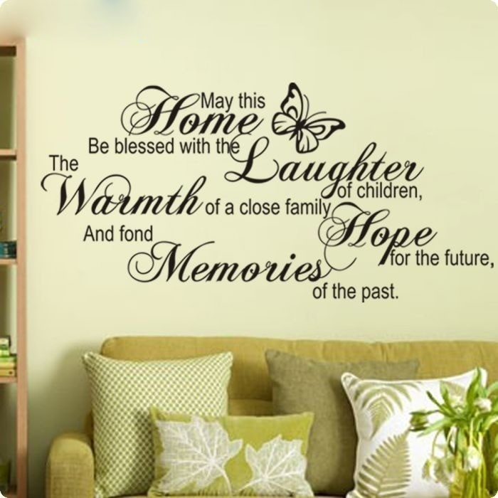 May This Home Be Blessed Vinyl Wall Quotes Wall Art Stickers Wall Decals