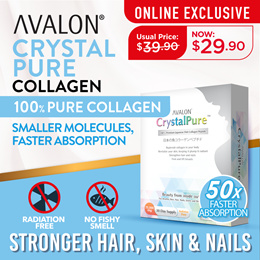 [1st 50 Qty $19.90] AVALON CrystalPure 100% PURE JAPANESE COLLAGEN | 1 MONTH SUPPLY I High Quality Collagen | Not Fishy