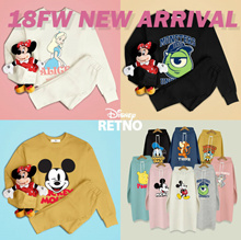 [RETNO x HOWRU] 💖18FW Disney Authentic Long Sleeves / Hooded Long T-shirts💖 FLAT PRICE / winter / travel