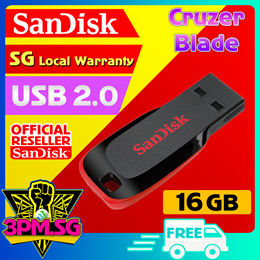 [Cheapest Local Stock]SanDisk Cruzer Blade Thumbdrive (5Yrs Warranty) 16GB 32GB