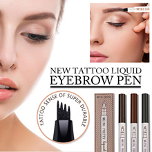 💋[1+1+1]💋 Eyebrow Tattoo Pen Eyebrow Pencil with a Micro-Fork Tip Applicator Creates Natural Look