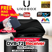 Digital Antenna/ UKOBOX DVB-T2 Receiver / Legal DVB-T2 Tunner / dvb t2 box / Digital TV antenna