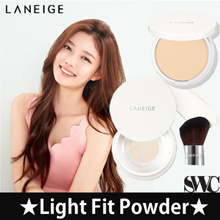 ★[LANEIGE]★2018 NEW Light Fit Powder +brush 9.5g /[Catrin] ⓐ Natural 100 Mineral Sunkill RX SPF46 PA