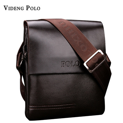 2017 New High Quality PU Leather Mens Messenger Bags Famous Brand Casual  Business Man Bag Men d3f9f1d7645ae