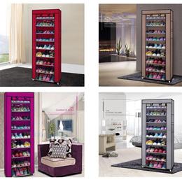 10 Layer 9 Grid Non-woven Fabric Shoe Rack Shelf Storage Closet( Wish Express Shipping Includes HI,P
