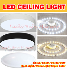 【Full Set LED Ceiling Light】 Magnet LED Light With Cover/12W to 36W /Cool White/Warm White/Tri-Color