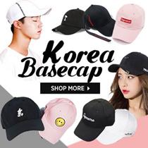 ★NEW 08/2017 Korean caps ★Celebrity collection / baseball cap / solid color / logo embroide