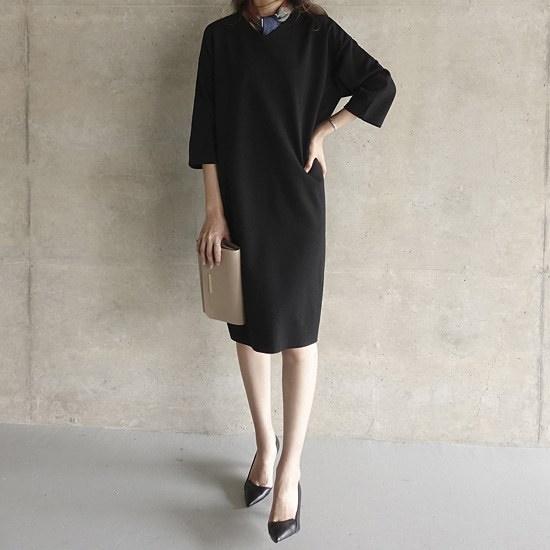 ミシャプ語・ターム・ワンピース2 color 綿ワンピース/ 韓国ファッション