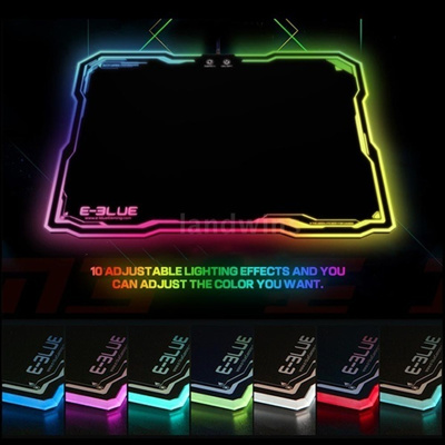 Durable LED Lighting USB Wired Hard Gaming Mouse Pad Dazzle RGB Colorful Backlight Game Mice Mat wit