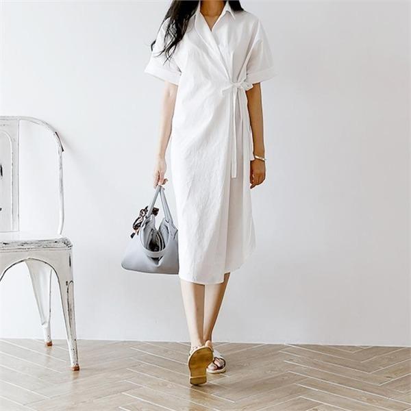 ディエイスカララップシャツ、ワンピースnew 無地ワンピース/ワンピース/韓国ファッション