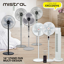 Range of Mistral 16 inch Stand Fan Remote or Non Remote MSF047 MSF046R MSF1679R MSF1643 MSF1678