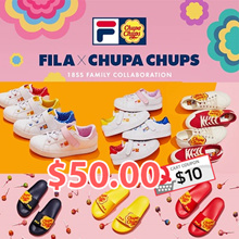 [FILA X CHUPA CHUPS] ♥Get Qoo10 Coupon $10♥ 7type Limited Edition Sneakers Shoes / Slipper / Court Delux