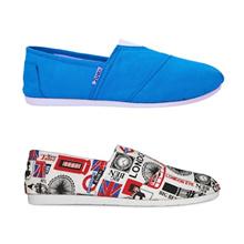 Kenz Sloppy Girl - Blue Tosca / White | Sepatu Wanita Casual Slip-On