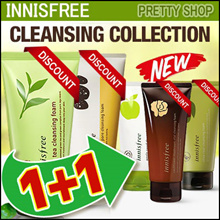 [Innisfree] 1+1 Cleansing Foam Line! Apple Juicy/Green Tea/Jejubija/Jeju Volcanic Pore/Calming