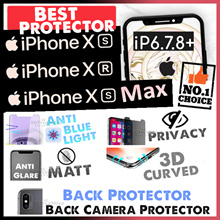 iPhone X | XS♥XS Max♥XR♥8♥8 Plus♥7♥7+♥Tempered Glass Screen Protector♥Matt♥Privacy♥Full Cover♥Casing