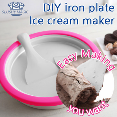 Frozen Yogurt Magic Ice Cream Maker Yogurt Slush Cold Moulds Tray Creamy Kids