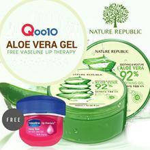 (Free Vaseline lip trerapy) Nature Republic Aloe Vera Gel 92% ORIGINAL GUARANTEED 100%