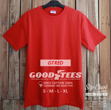GT  RED  KAOS POLOS BAHAN COMBAD 30S 100% COTTON REACTIVE ( BEST QUALITY )