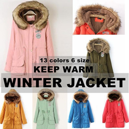 KROEA KEEP WARM WINTER JACKET New Korean womens autumn and winter fur Fashion Winter Wear Clothing F