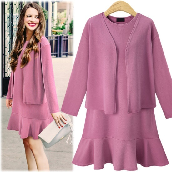 ペションプルDRS16371のエイミー・カディゴンワンピースSet 綿ワンピース/ 韓国ファッション
