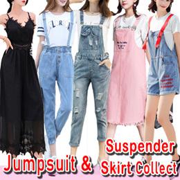 42a60acbd3e7e *Jumpsuit *Jean suspenders*Denim Jumpsuit Loose Pants Korea Trousers Women  Jumpsuit Skirt Collect