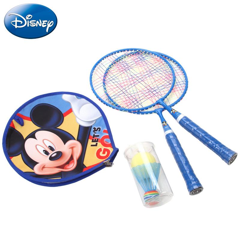 【Disney官方授權】兒童羽毛球拍冰雪奇緣 米奇雙拍 寶寶大圓球拍訓練拍3-12歲適用(兩支裝)