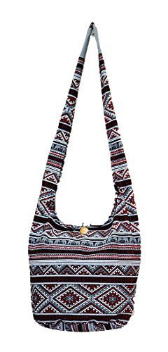 5ea5d8a98b6 Qoo10 - Thai Hippie Hobo Sling Crossbody Shoulder Bag Purse Handmade Zip  Ethni...   Bag   Wallet