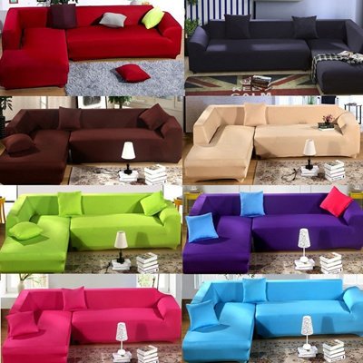 Wondrous L Shape Stretch Elastic Fabric Sofa Cover Sectional Corner Couch Covers Interior Design Ideas Gresisoteloinfo