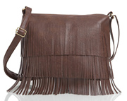 29K Women Frills (Jhallar) Sling Bag Dark Brown
