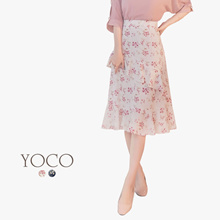 YOCO - Floral Print Ruffle Skirt-180198
