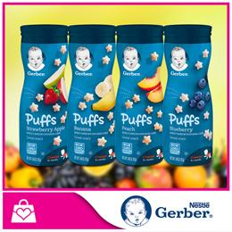 Bundle of 2 PROMO!![Nestle]GERBER® GRADUATES® Puffs Strawberry Apple/Banana/Peach/Blueberry 42g