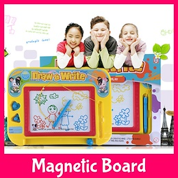 Colourful Magnetic Doodle Board★Rainbow Drawing Fun Stamping★Travel Portable Toy Kids Children Gift Colouring